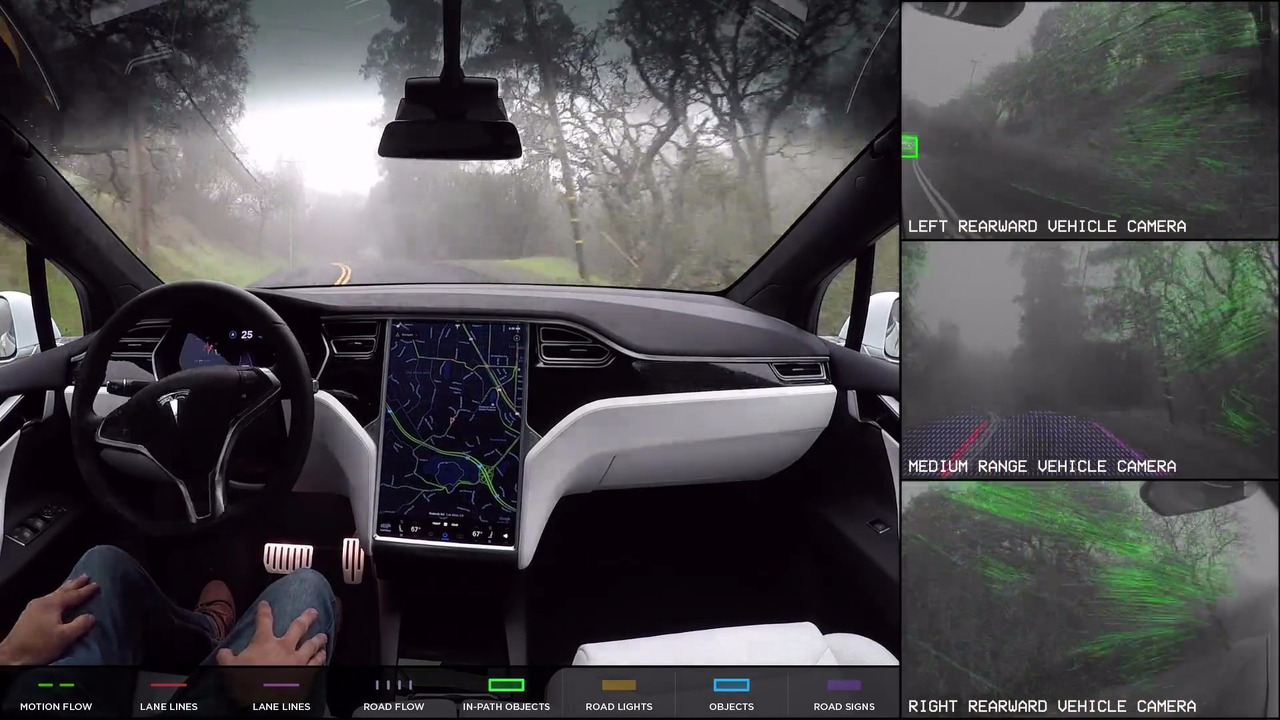 Tesla Autopilot camera feeds