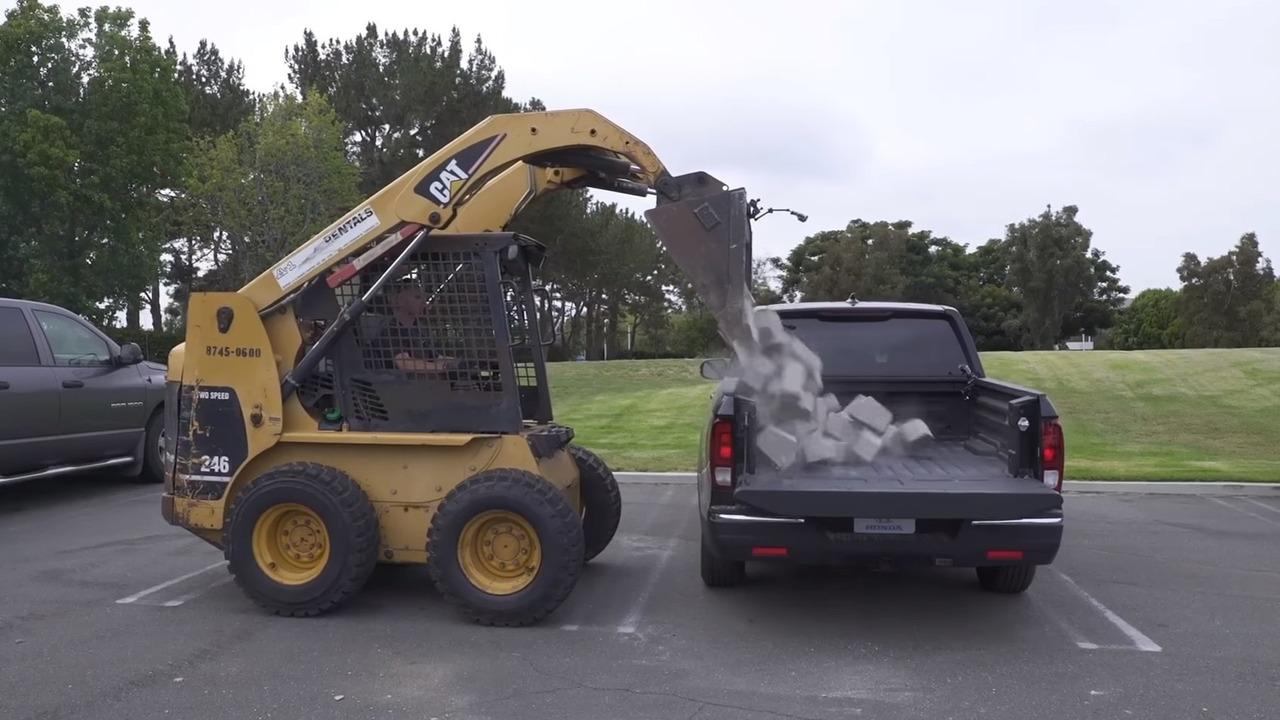 2017 Honda Ridgeline responds to Chevy, Ford rock drop test