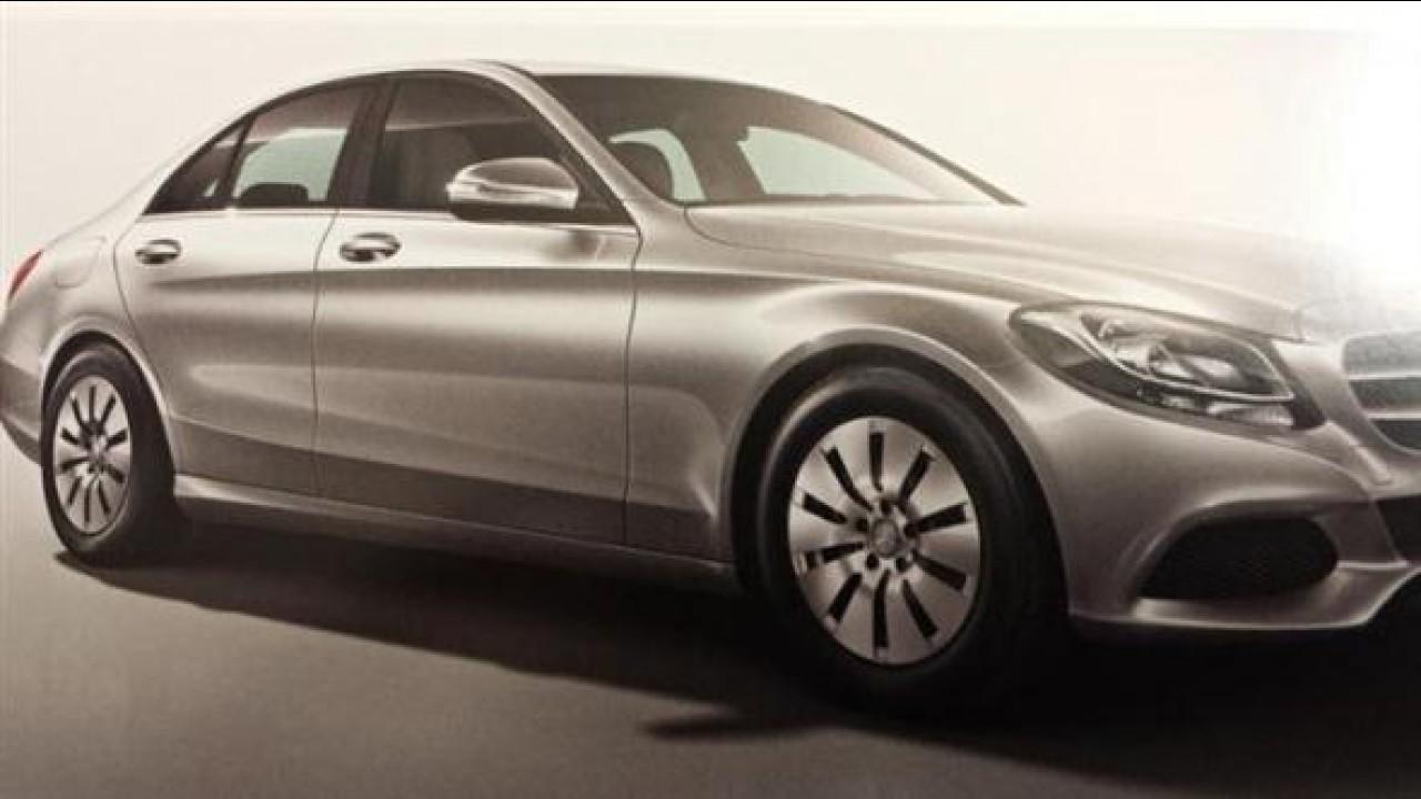 Vazou: novo Mercedes Classe C aparece agora em versão básica