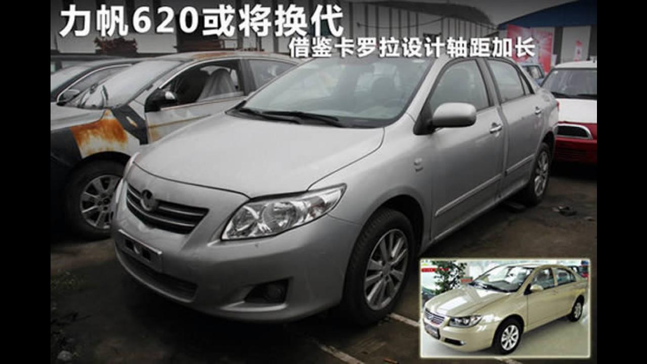 Nova geração do Lifan 620 será inspirada no... Corolla! De novo!