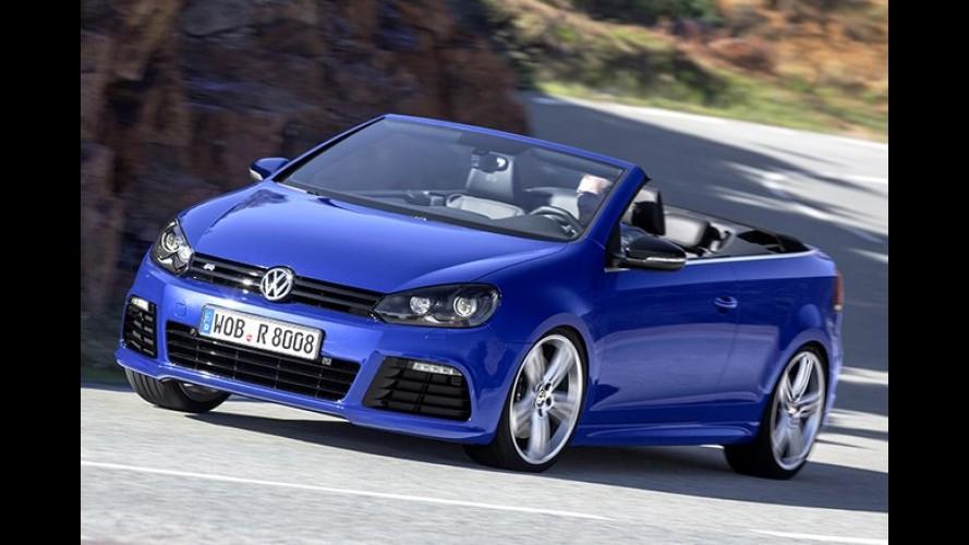 VW Golf R Conversível de 265 cv já é vendido na Alemanha, mas custa caro - Veja fotos
