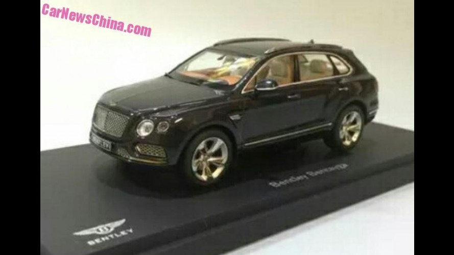 """Segredinho"": miniatura revela versão final do SUV Bentley Bentayga"