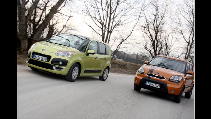 Lifestyle für die Stadt: Citroën C3 Picasso gegen Kia Soul