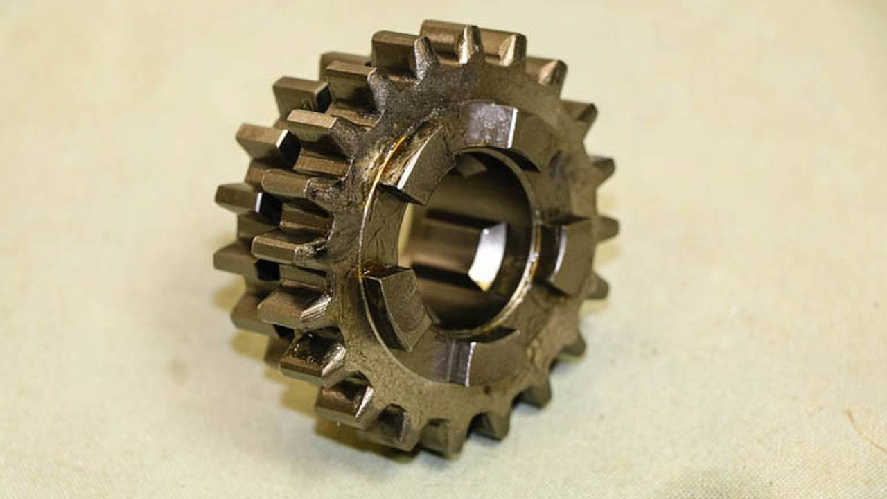 The slider gear turns with the mainshaft and can slide back and forth to mate with different gears.