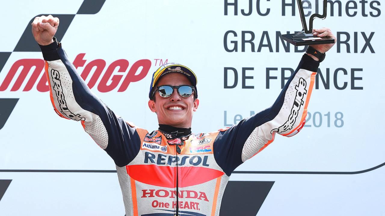 French GP Results: Marquez Wins, Dovizioso and Zarco Crash