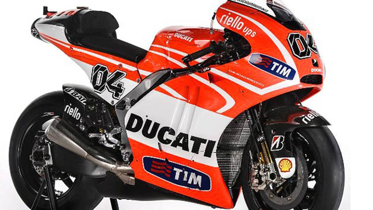 First photos of the Ducati GP13