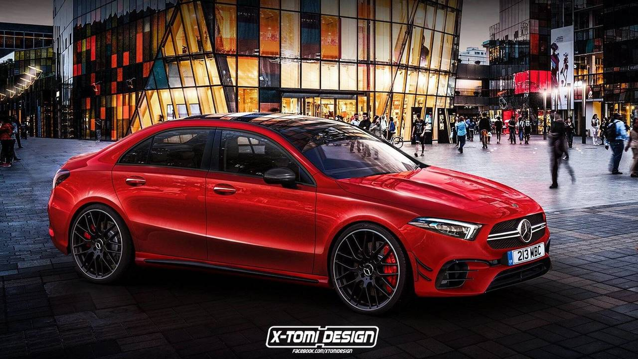 mercedes amg a45 sedan is coming but will it look like this. Black Bedroom Furniture Sets. Home Design Ideas