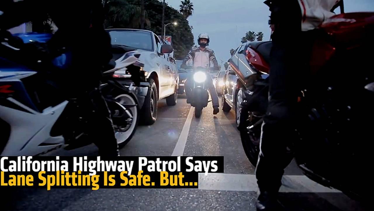 California Highway Patrol Says Lane Splitting Is Safe. But...