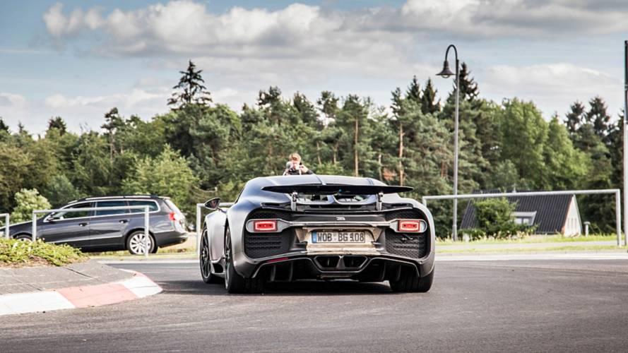Bugatti Chiron prototipo de pruebas