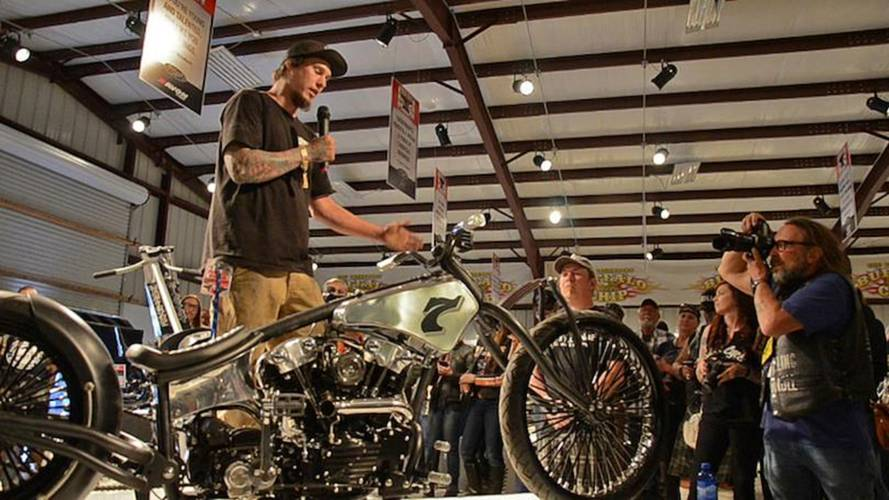 Motorcycle as Art Display at Sturgis
