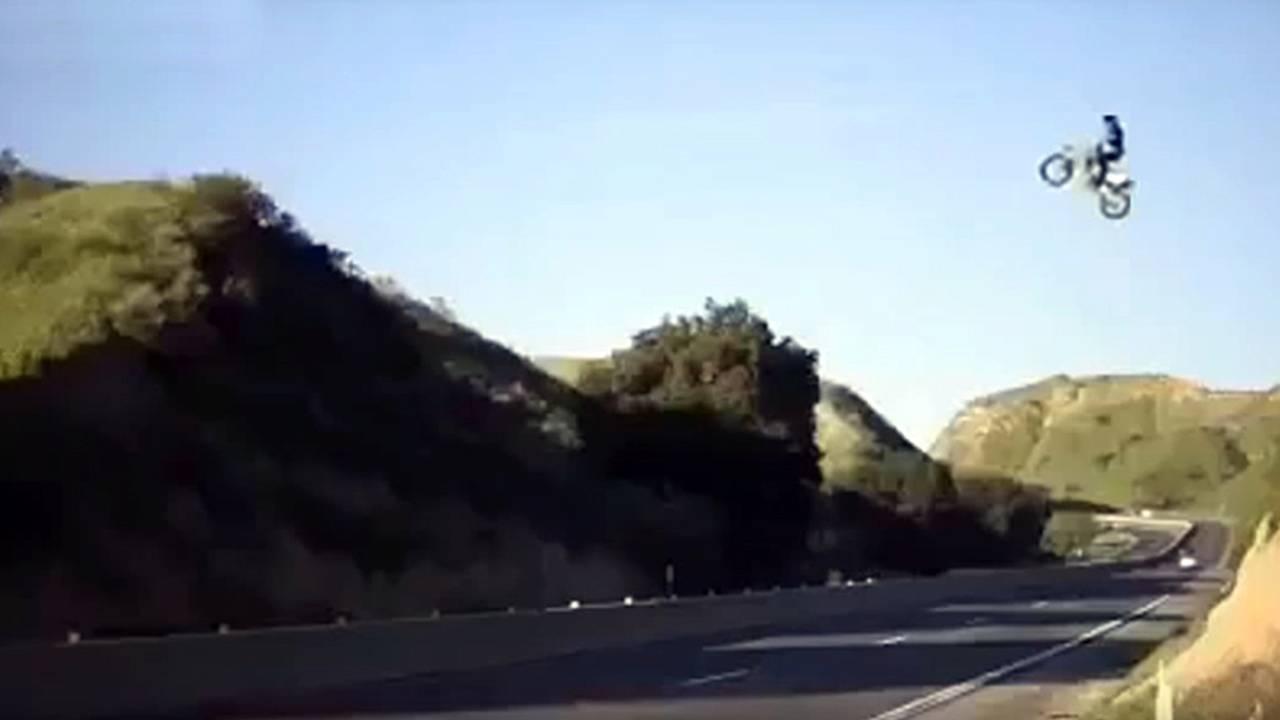 Kyle Katsandris Southern California Highway Jump Getting Heat