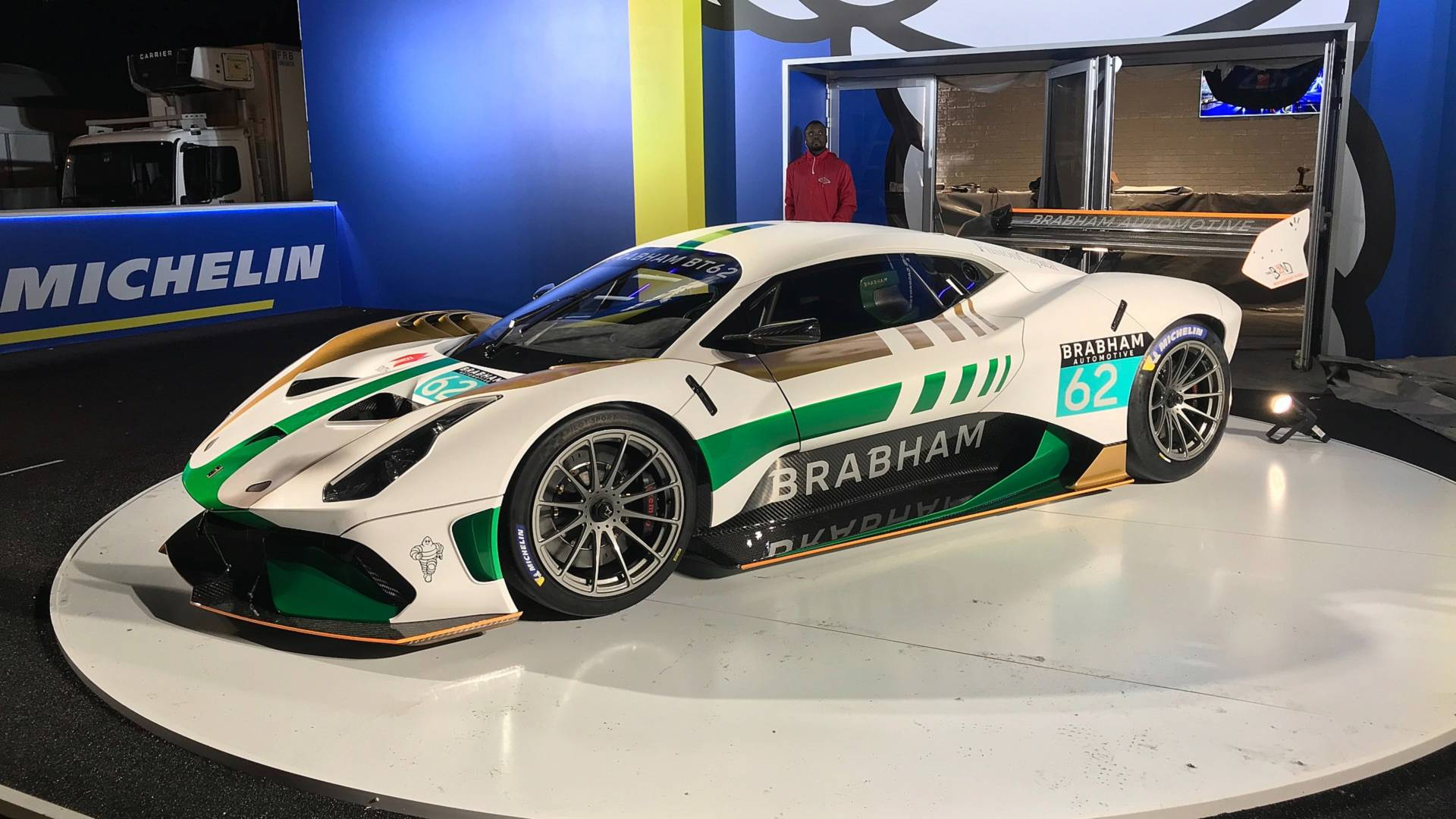 "[""Brabham BT62 makes liveried debut""]"