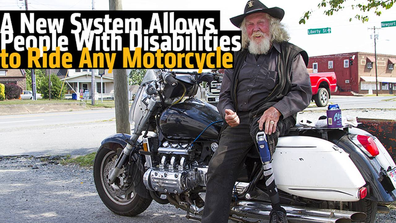 People With Disabilities Can Now Ride Any Motorcycle, with The LegUp System