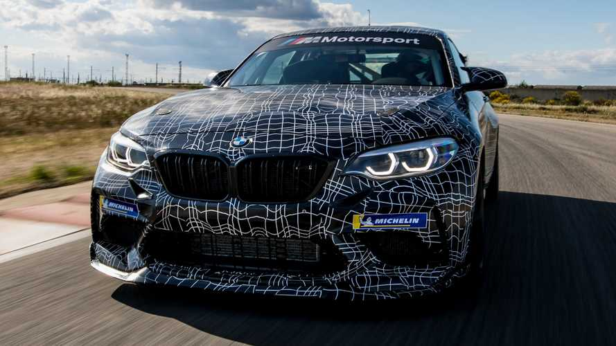 BMW M2 Competition Race Car Teased Ahead Of August 3 Reveal
