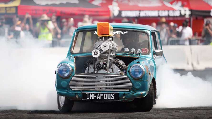 Corvette-powered Mini Cooper looks fun but scary