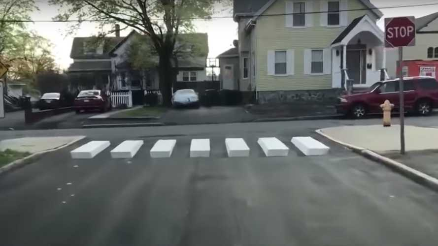 10-year old devises 3D crosswalk to stop speeding cars