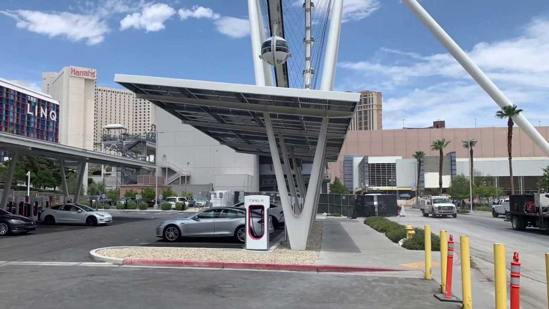 250 kW Tesla Model 3 Supercharging Demonstrated In Las Vegas: Video