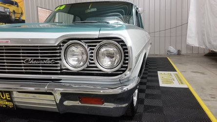 Lightly modded 1964 chevy bel air is a cool coupe