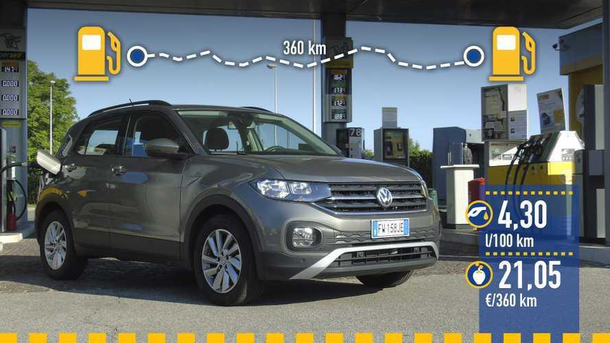 Volkswagen T-Cross 1.0 TSI 2019, prueba de consumo real
