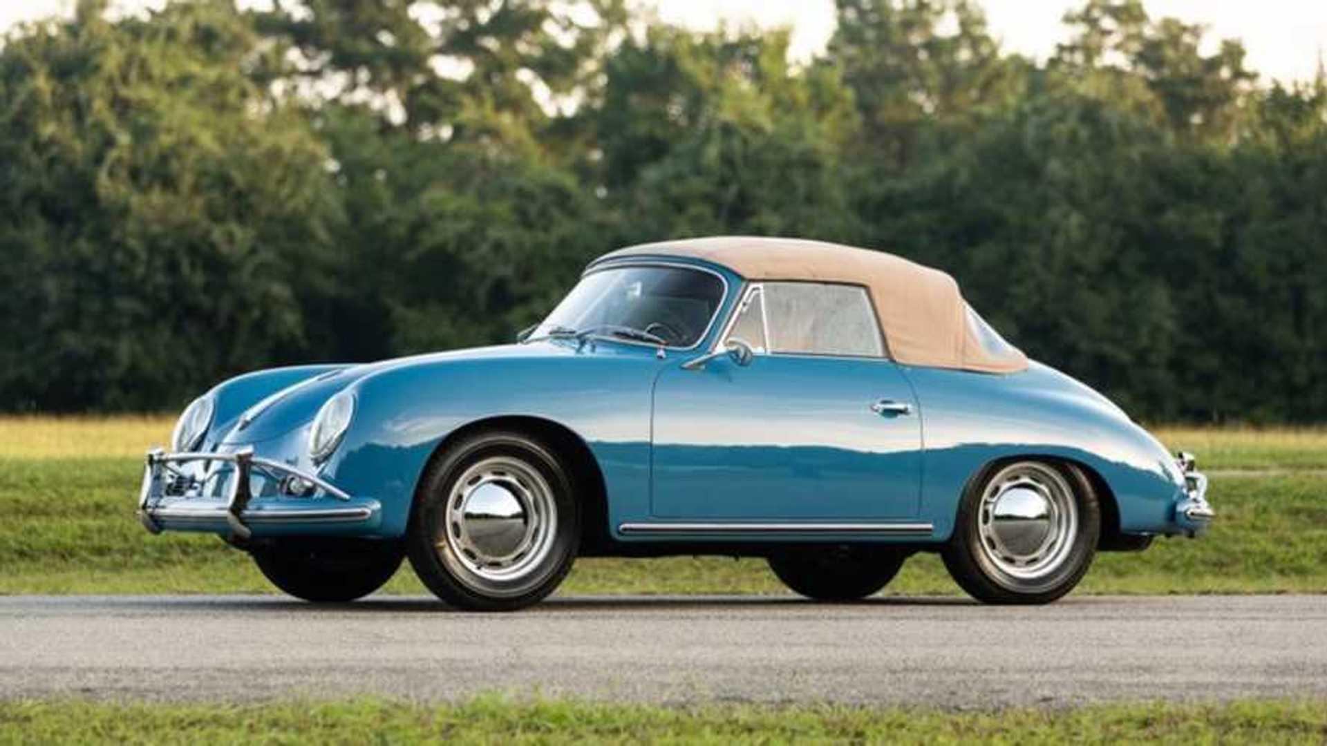 "[""Rare Amalfi Blue 1959 Porsche 356A 1600 Reutter Cabriolet""]"