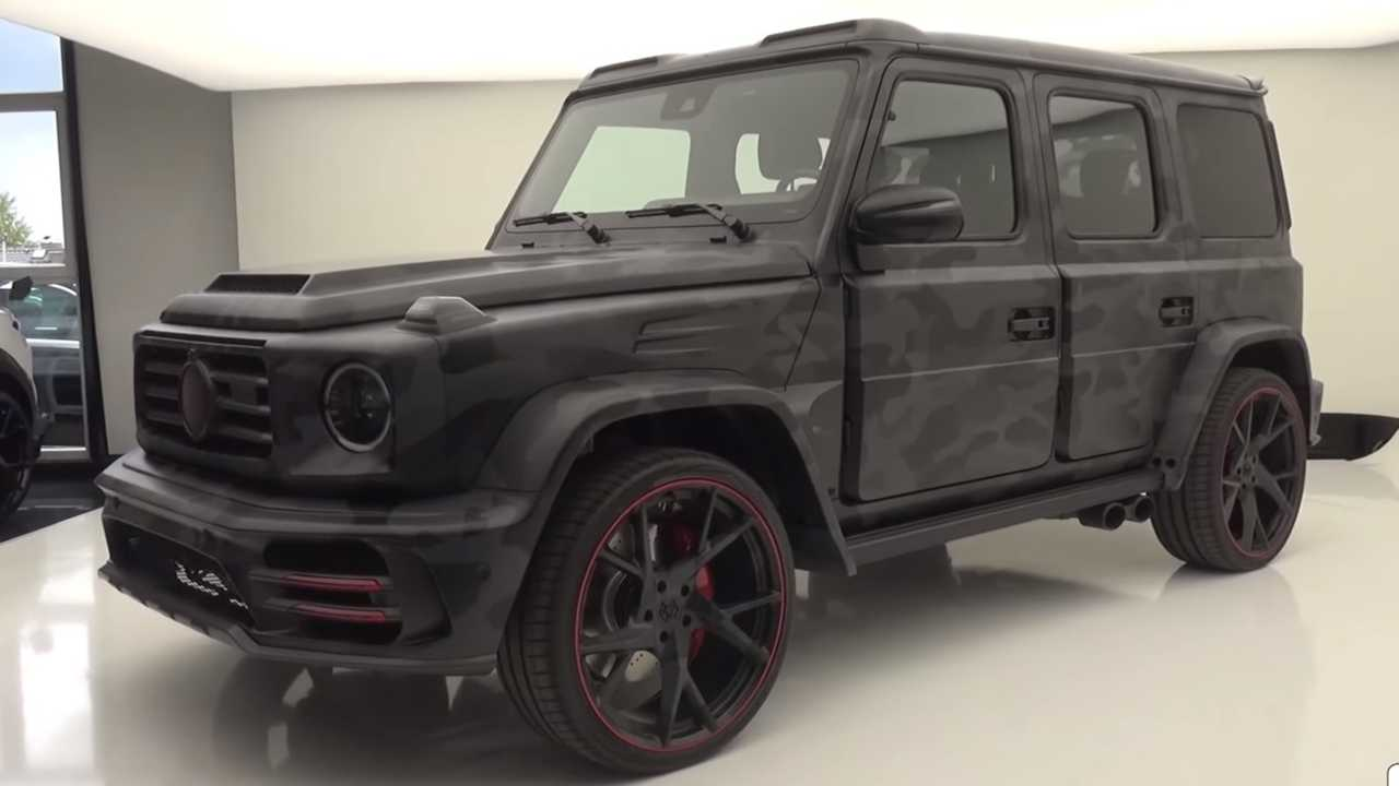ludicrous mercedes amg g63 by mansory detailed on video. Black Bedroom Furniture Sets. Home Design Ideas