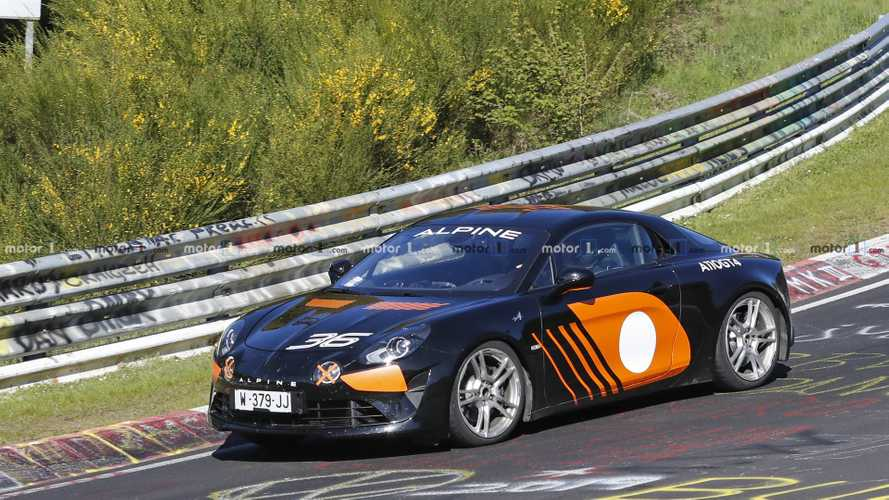 Possible higher-specification Alpine A110 spy photos