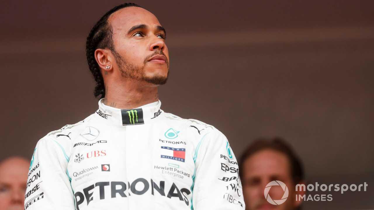 Lewis Hamilton on Monaco GP 2019 podium