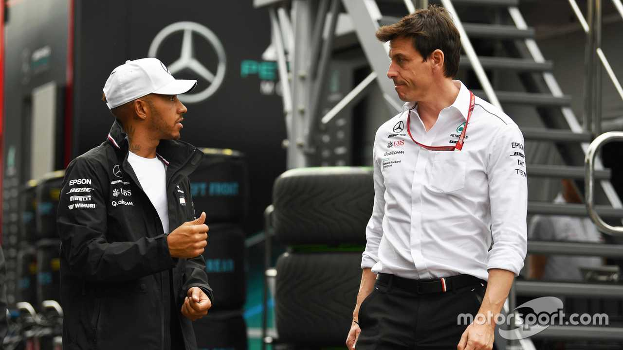 Lewis Hamilton and Toto Wolff at Austrian GP 2018