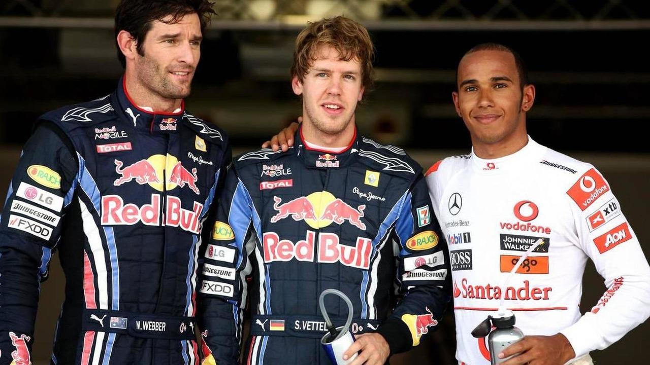 Mark Webber (AUS), Red Bull Racing, Sebastian Vettel (GER), Red Bull Racing, Lewis Hamilton (GBR), McLaren Mercedes -Formula 1 World Championship, Rd 16, Japanese Grand Prix, 10.10.2010 Suzuka, Japan