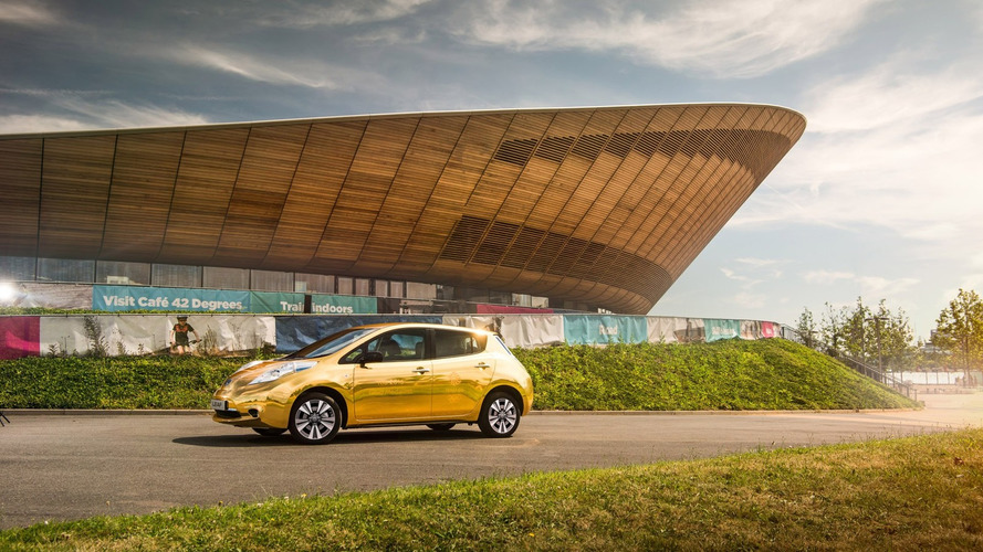 Nissan creates gold Leaf for UK Olympic medalist