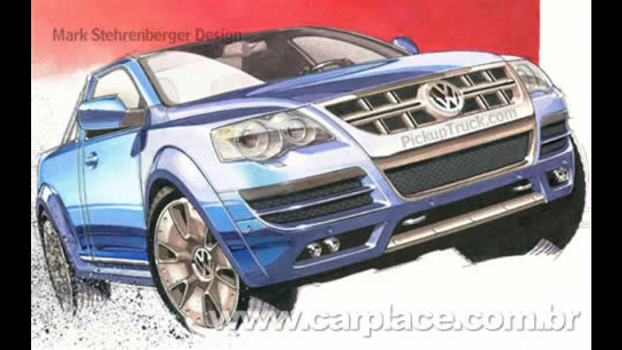 Nova Pickup Robust da Volkswagen - Primeira projeção circula pela internet