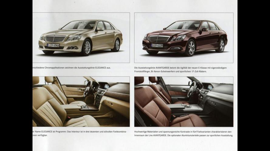 Finisce in rete la brochure della Mercedes Classe E