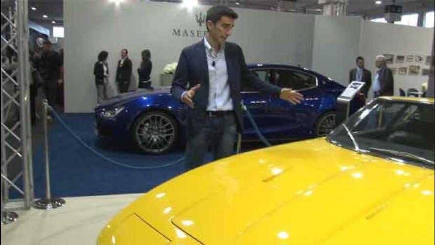 """Maserati ad Auto e Moto d'Epoca con la Ghibli """"vecchia"""" e nuova"""