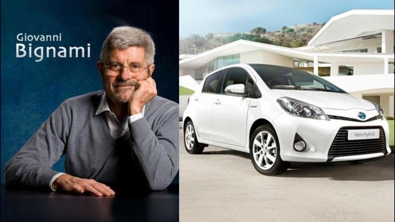 [Copertina] - L'astrofisico Giovanni Bignami promuove la gamma ibrida Toyota