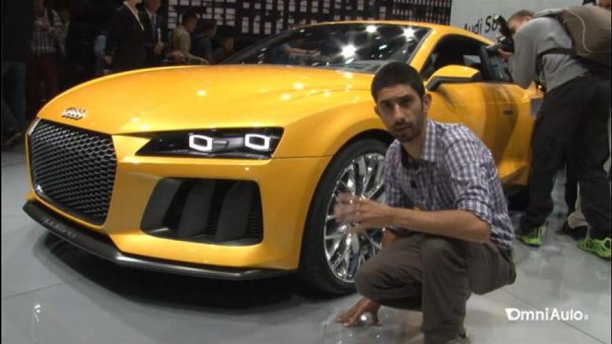 Salone di Francoforte: com'è dal vivo il prototipo dell'Audi Sport quattro concept [VIDEO]