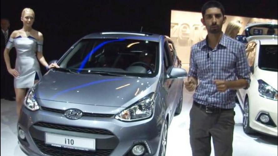 """Salone di Francoforte: primo incontro con la nuova Hyundai i10, la """"Panda"""" coreana [VIDEO]"""