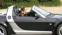 Tiziano Ferro and Jamelia in smart roadster