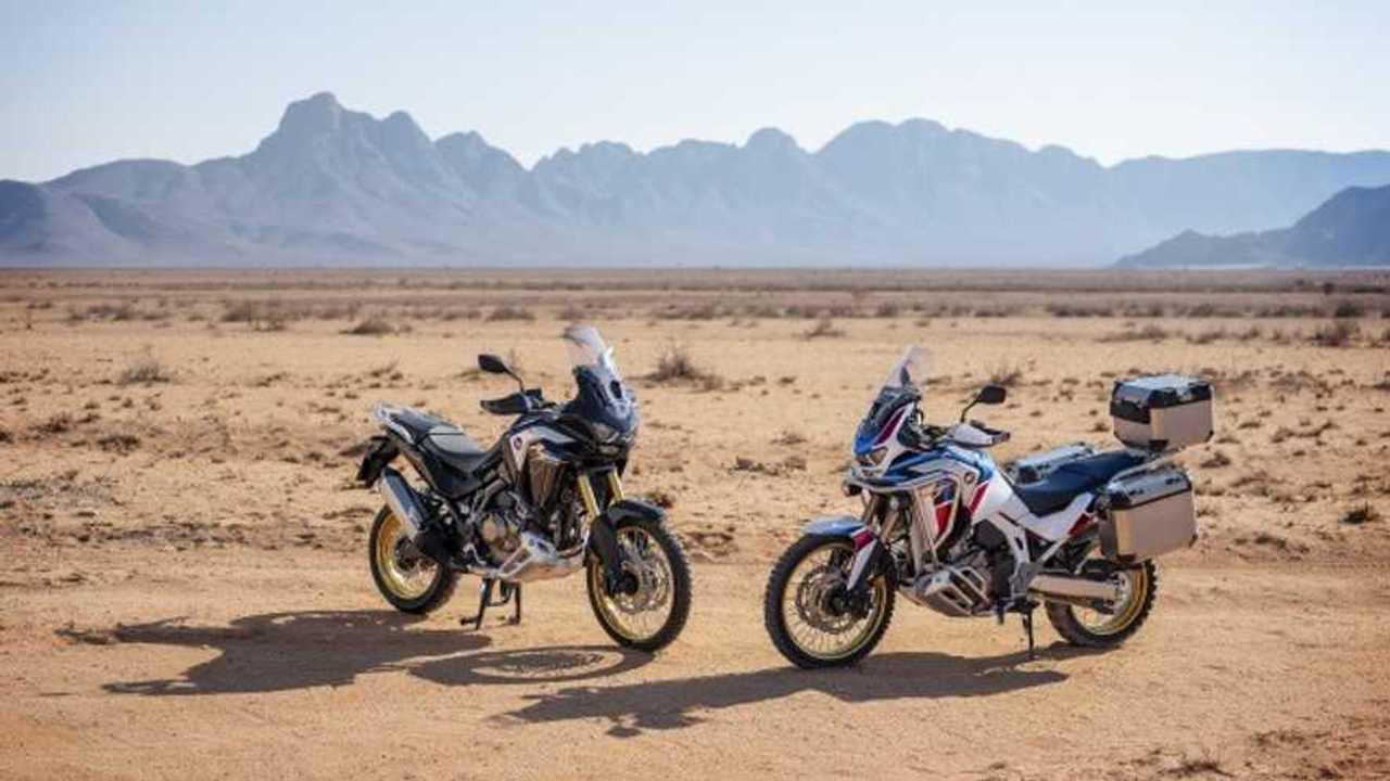 2021 Honda Africa Twin Front Three Quarter